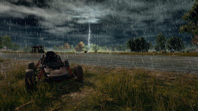 絕地求生 雨天