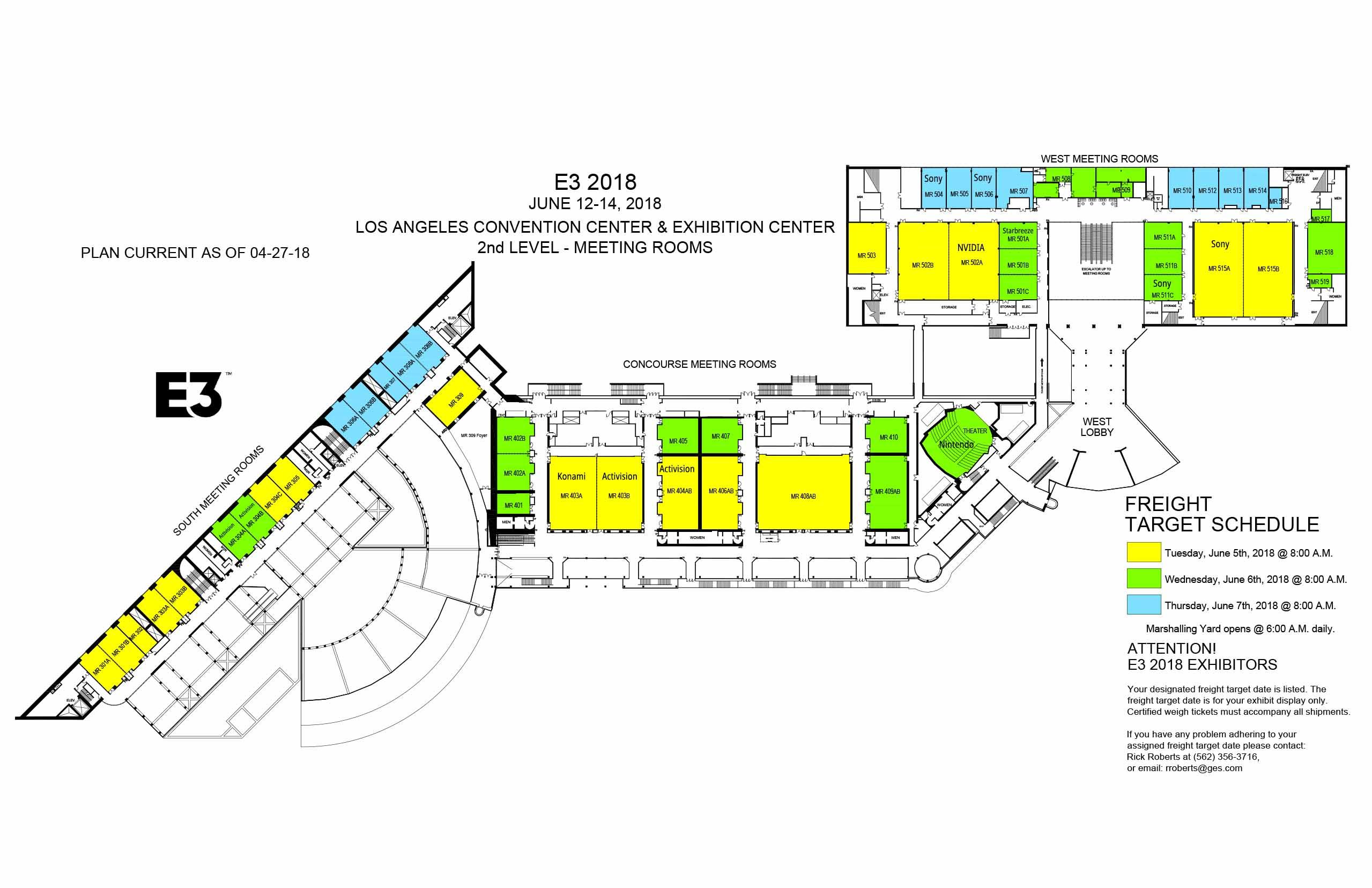 E3 Floor Plan Concourse Hall