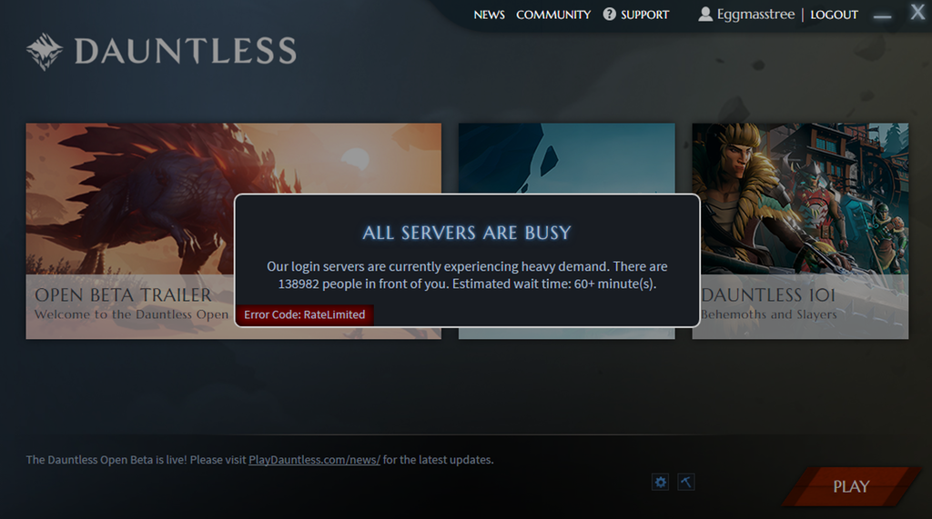 Thousands Of Players In Open Beta Dauntless Queues - EXP GG