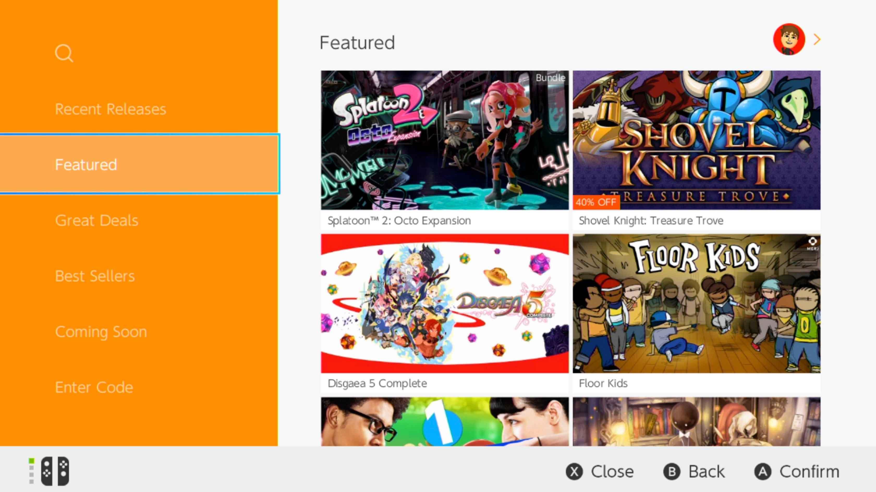 Nintendo eShop Featured