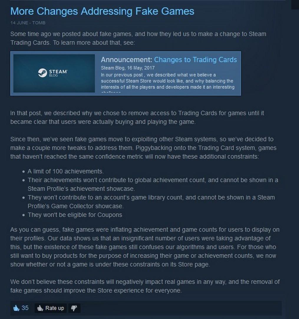 Steam Store Update Achievements Fake Games