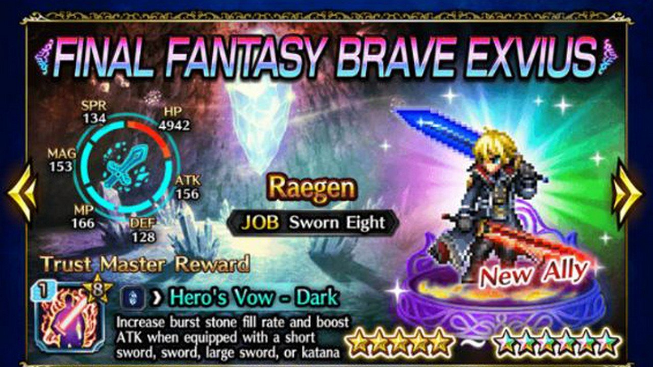 New FFBE Unit Raegen Guide And Review - EXP GG