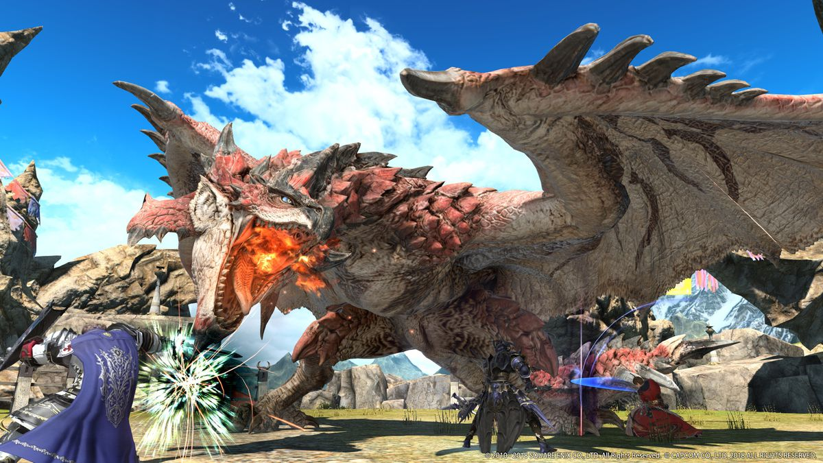 Monster Hunter World Final Fantasy