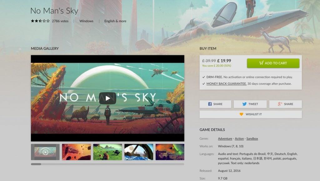 No Man's Sky Multiplayer Delayed Indefinitely On GOG.com Version