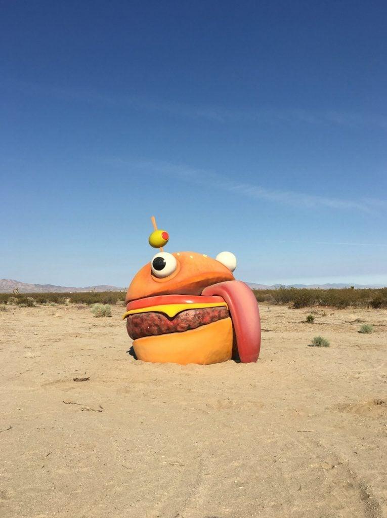 Vanished Fortnite Mascot, Durrr Burger, Turns Up In California Desert