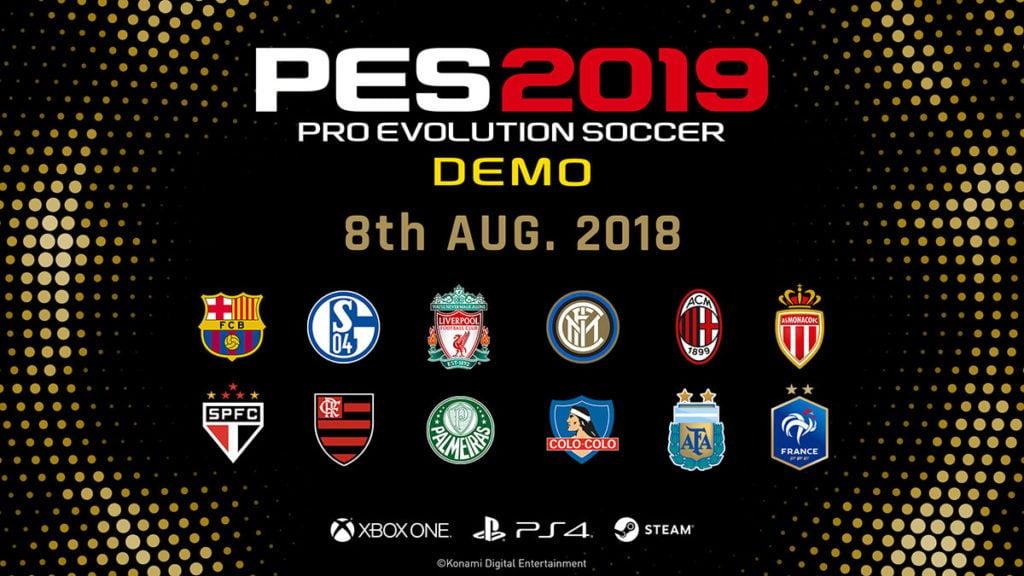 Pro Evolution Soccer 2019 Demo Lands August 8th
