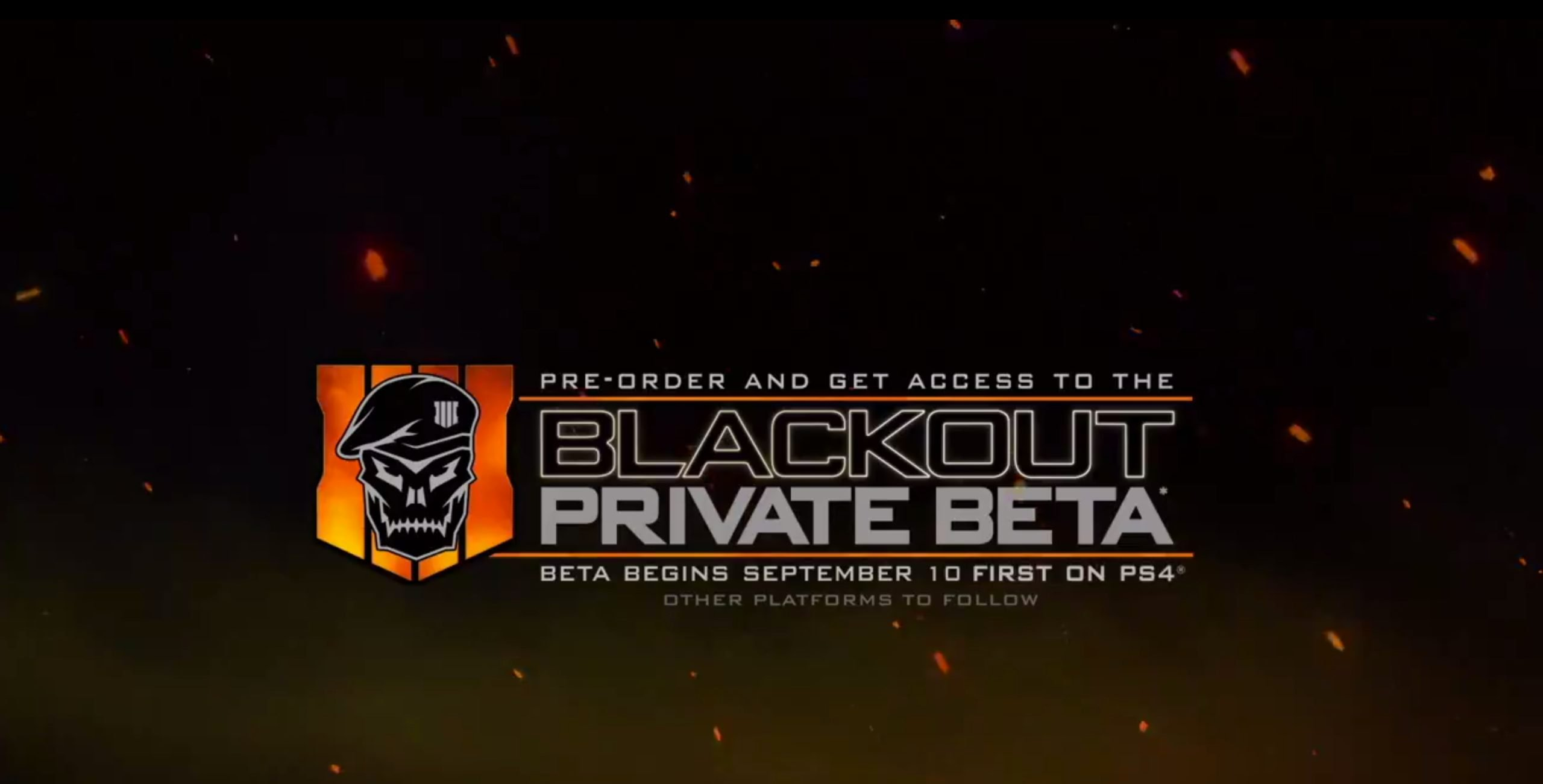 Call of Duty: Black Ops 4 Blackout Battle Royale Beta Starts Sept. 10th
