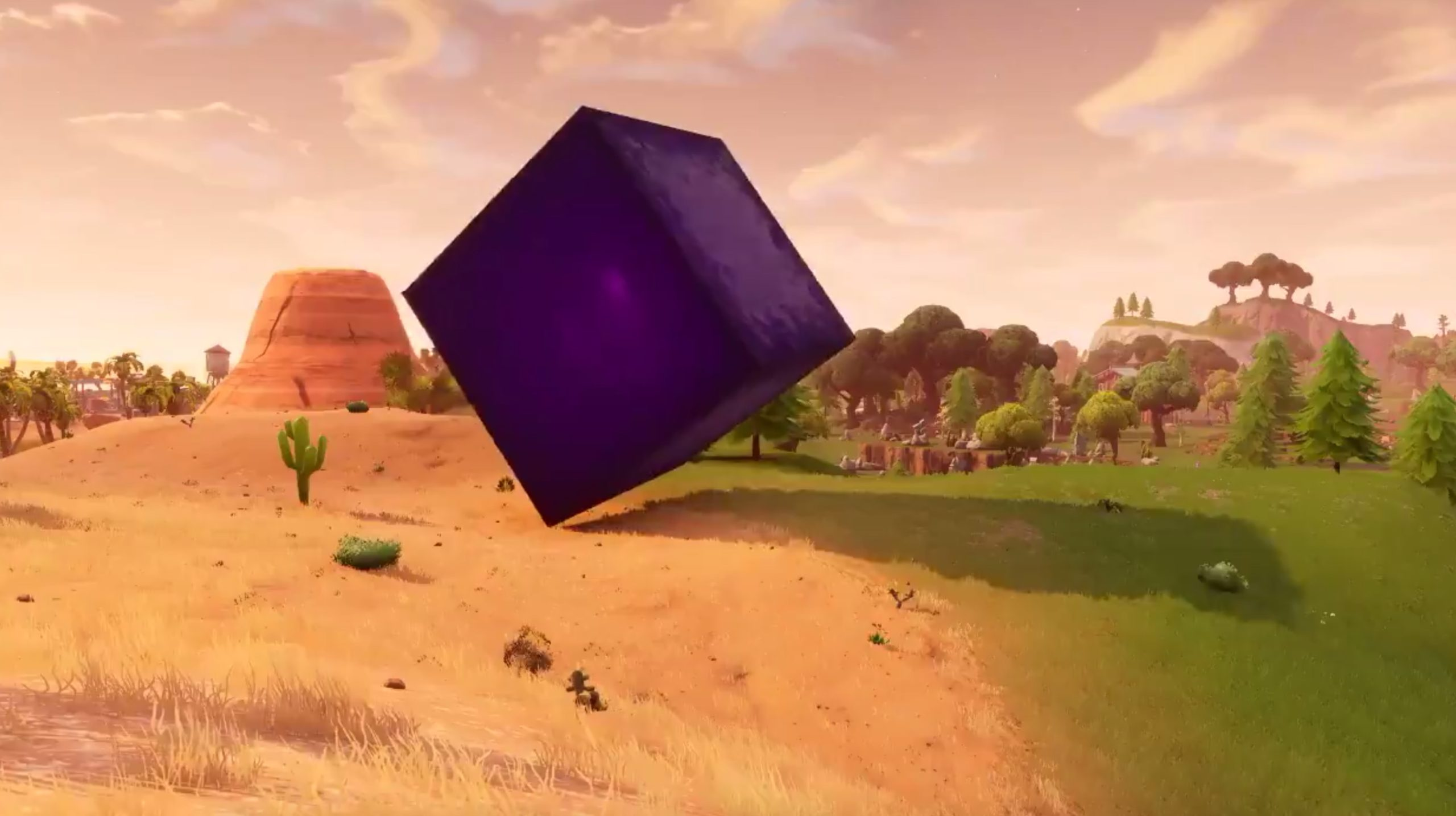Fortnite Players Glitch Into Bouncy Purple Cube