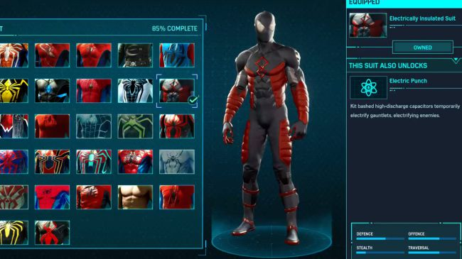 spider man ps 4 Electrically Insulated Suit