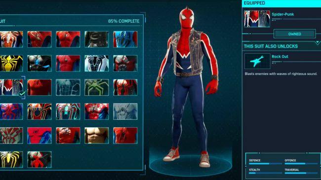 spider man ps 4 Spider-Punk Suit