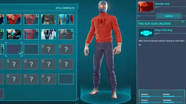 spider man ps 4 Wrestler Suit