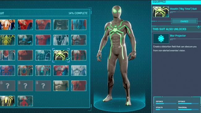 spider man ps 4 Stealth Big Time Suit