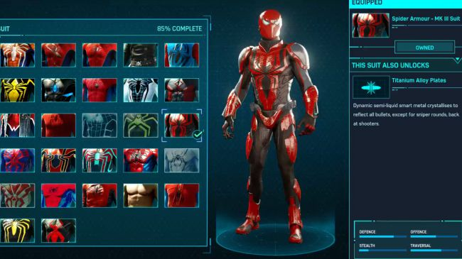 spider man ps 4 Spider Armour MK III Suit