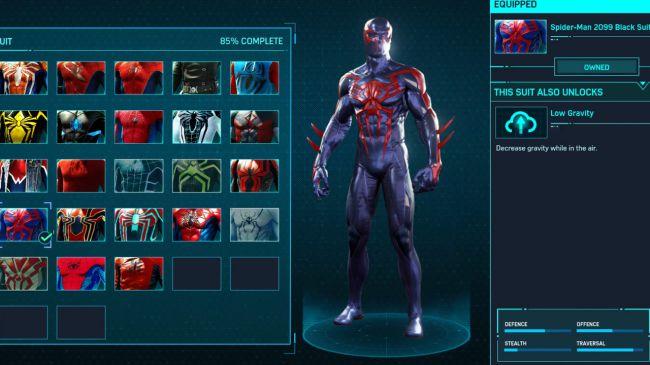Spider-Man ps 4 2099 Black Suit