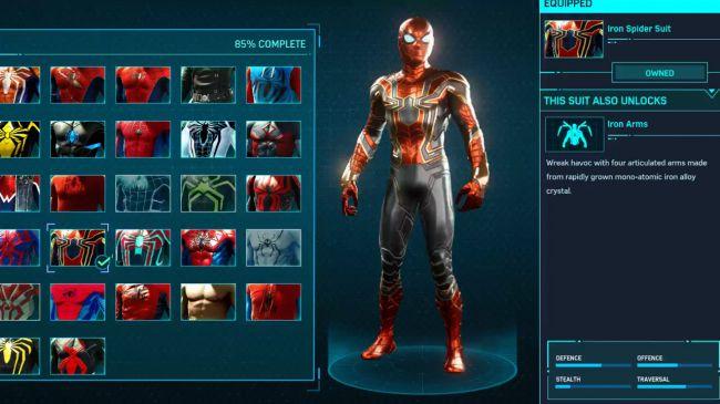 spider man ps 4 Iron Spider Suit