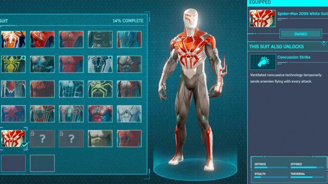 spider man ps 4 Spider-Man 2099 White Suit