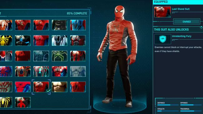 spider man ps 4 Last Stand Suit