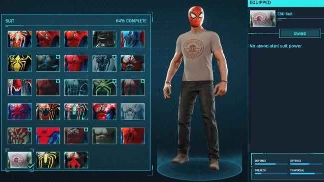 spider man ps 4 ESU Suit