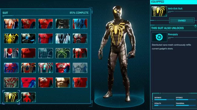 spider man ps 4 Anti-Ock Suit
