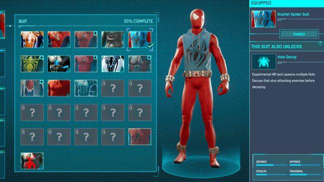 Spider man ps 4 Scarlet Spider Suit