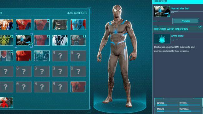 spider man ps 4 Secret War Suit