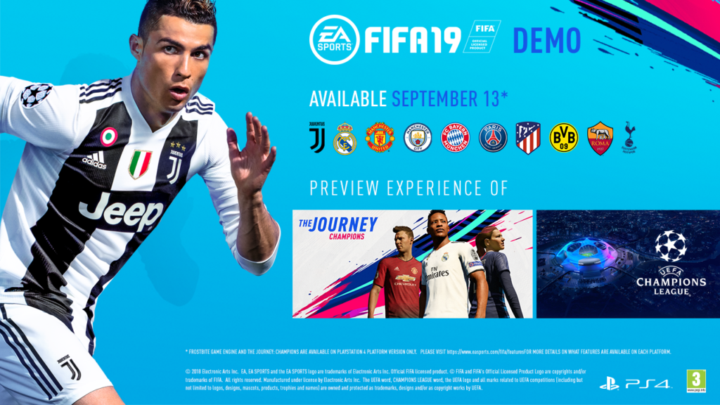 EA To Release PlayStation 4 FIFA 19 Demo Later this Week