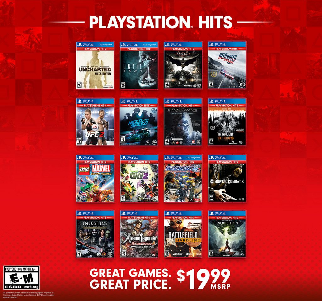 New Titles Joining PlayStation Hits Lineup On November 2nd