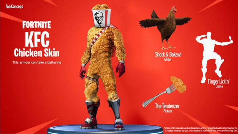 Kfc Is Partnering Up With Epic Games Exp Gg