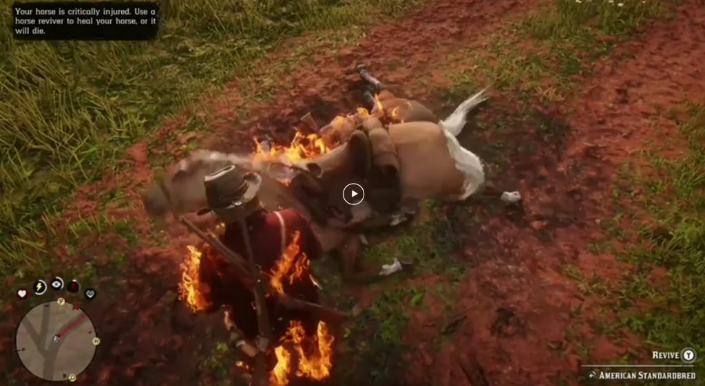Horses Are Bursting Into Flames In Red Dead Redemption 2