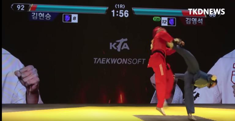 韓國跆拳道協會推廣出奇招!跆拳道格鬥遊戲在現實比賽上演!