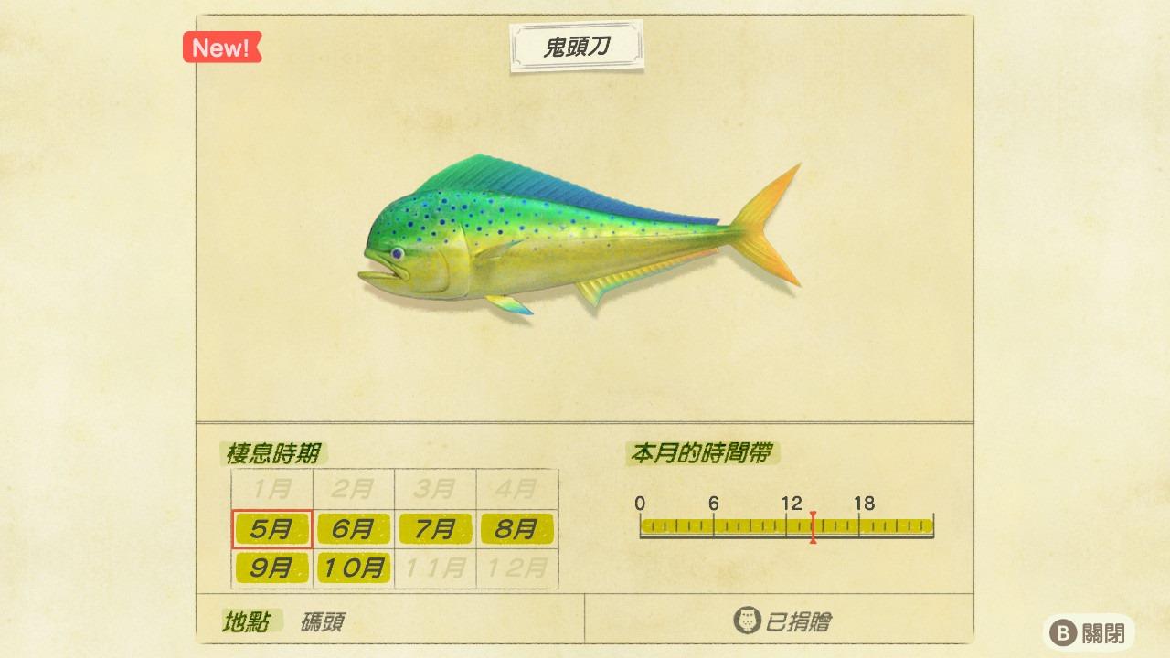 北半球 玩家必看! 《動物森友會》 五月 新增 魚類 及 昆蟲 一覽表