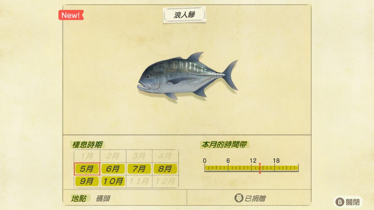北半球 玩家必看!動物森友會 / 五月 新增 魚類 及 昆蟲 一覽表