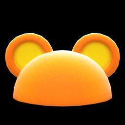 Animal Crossing New Horizons Guide Halloween Costumes Item Icon Flashy Round Ear Animal Hat Variation Orange Exp Gg